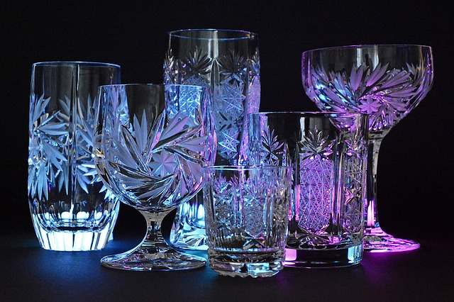 crystal glasses - fragile household items